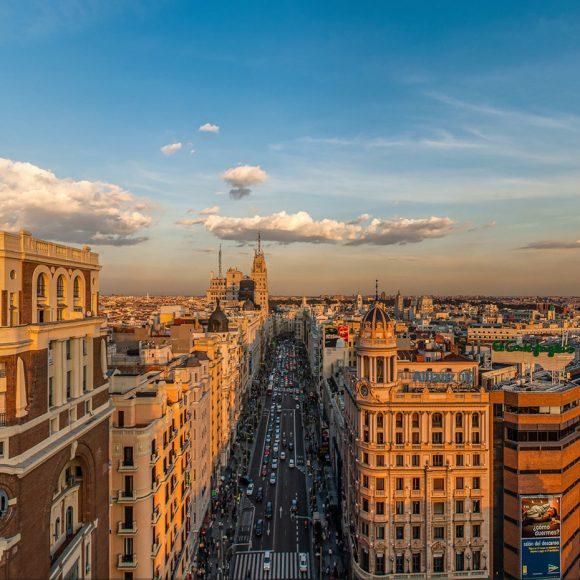 Vistas 360º desde el Edificio Capitol en la Gran Vía de Madrid