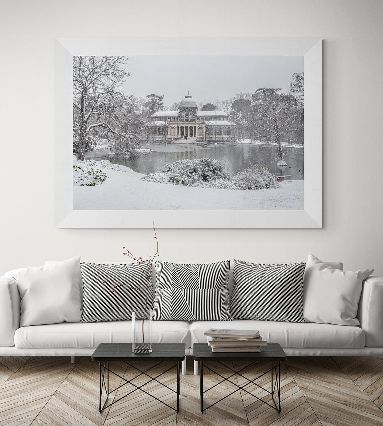 La gran nevada de Madrid, Palacio de Cristal por Adolfo Gosálvez