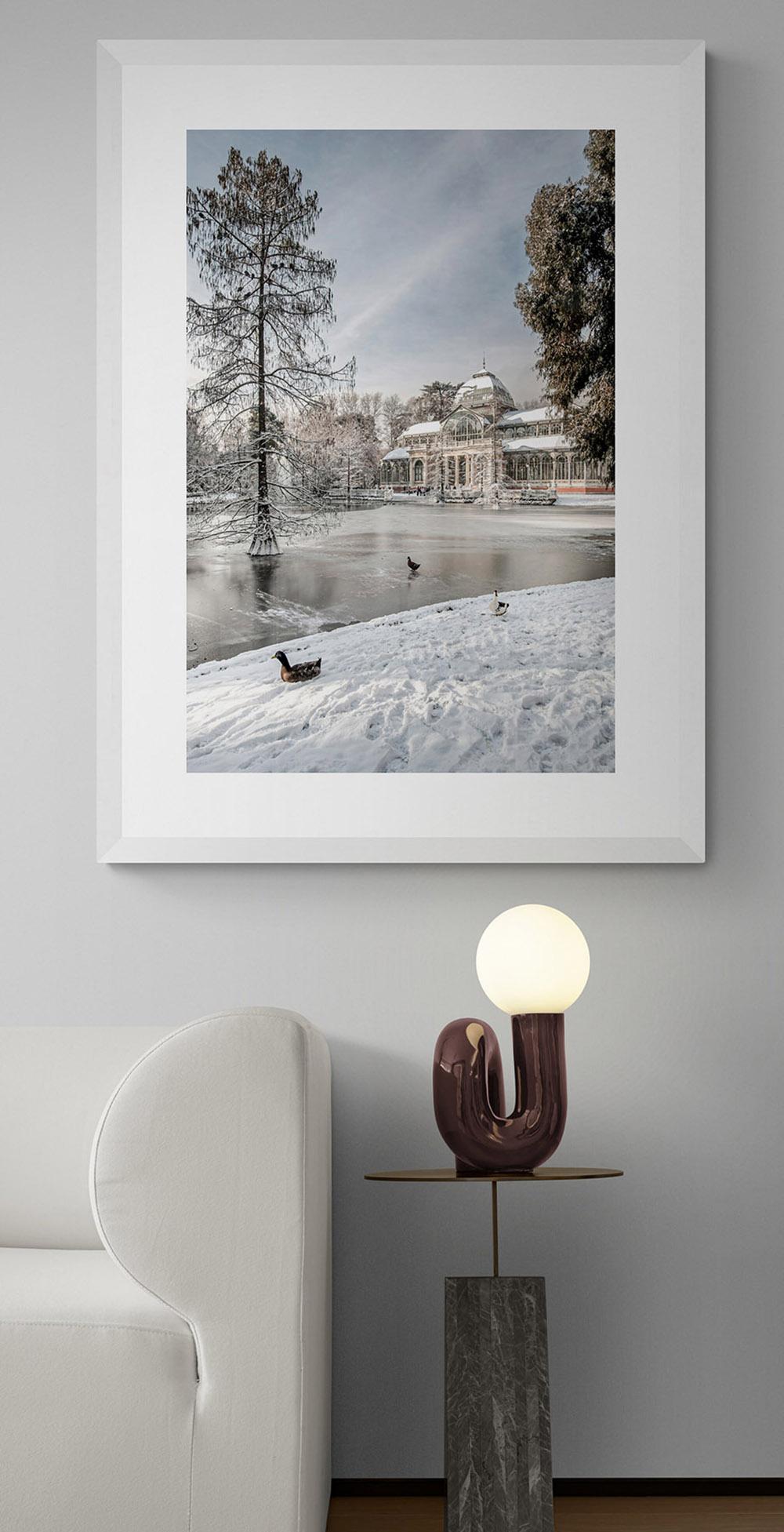 La gran nevada de Madrid, Palacio de Cristal nevado por Adolfo Gosálvez